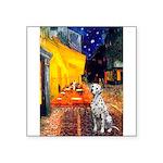 Cafe / Dalmatian #1 Square Sticker 3