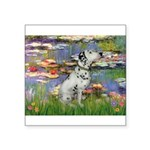 Lilies / Dalmation Square Sticker 3