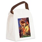 Mandolin Angel & Dobie Canvas Lunch Bag