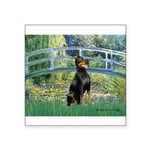 Bridge / Doberman Square Sticker 3