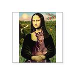 Mona's Red Doberman Square Sticker 3
