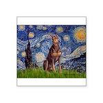 Starry / Red Doberman Square Sticker 3