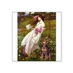 Windflowers / Dobie (#8) Square Sticker 3