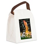 Fairies / English Bulldog Canvas Lunch Bag