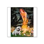Fairies / English Bulldog Square Sticker 3