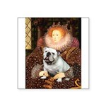 The Queen's English BUlldog Square Sticker 3