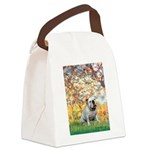 Spring/ English Bulldog (#9) Canvas Lunch Bag