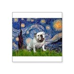 Starry Night English Bulldog Square Sticker 3