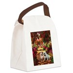 The Path / Two English Bulldogs Canvas Lunch Bag