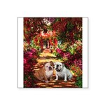 The Path / Two English Bulldogs Square Sticker 3