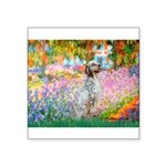 Garden / English Setter Square Sticker 3