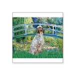 Bridge / English Setter Square Sticker 3