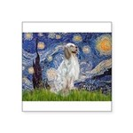 English Setter / Starry Night Square Sticker 3