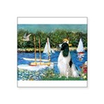 Sailboats / Eng Springer Square Sticker 3