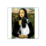 Mona Lisa/English Springer Square Sticker 3