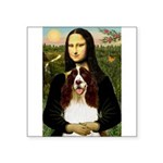 Mona/ English Springer Square Sticker 3