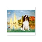 Sailboats / Eng Spring Square Sticker 3