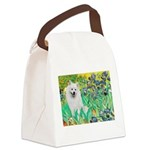 Irises / Eskimo Spitz #1 Canvas Lunch Bag