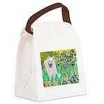 Irises / Eskimo Spitz #1 Canvas Lunch Bag