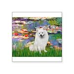 Lilies / Eskimo Spitz #1 Square Sticker 3