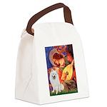 Mandolin / Eskimo Spitz #1 Canvas Lunch Bag