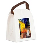 Cafe / Eskimo Spitz #1 Canvas Lunch Bag