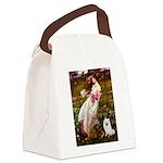 Windflowers / Eskimo Spitz #1 Canvas Lunch Bag
