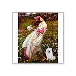 Windflowers / Eskimo Spitz #1 Square Sticker 3