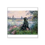 Flat Coated Retriever 2 Square Sticker 3