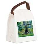 Flat Coated Retriever 2 Canvas Lunch Bag