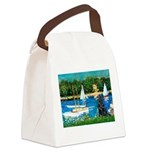 Sailboats / Flat Coated Retri Canvas Lunch Bag