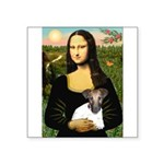 Mona & Fox Terrier Square Sticker 3