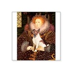 Queen/Fox Terrier (#S4) Square Sticker 3