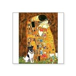Kiss / Fox Terrier Square Sticker 3