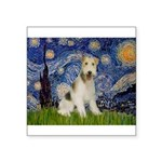 Starry / Fox Terrier (W) Square Sticker 3