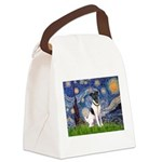 Starry / Fox Terrier (#1) Canvas Lunch Bag
