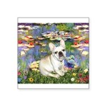 Lilies / Fr Bulldog (f) Square Sticker 3