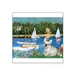 Sailboats / Fr Bulldog(f) Square Sticker 3