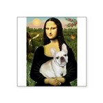 Mona / Fr Bulldog (f) Square Sticker 3
