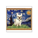 Starry/French Bulldog Square Sticker 3
