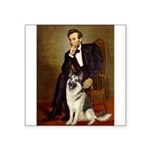 Lincoln's German Shepherd Square Sticker 3