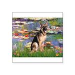Lilies & G-Shep Square Sticker 3