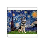 Starry / German Shepherd 10 Square Sticker 3