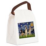 Starry / 2 German Shepherds Canvas Lunch Bag