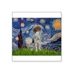 Starry Night /German Short Square Sticker 3
