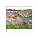 Lilies & Golden Square Sticker 3