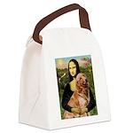 Mona's Golden Retriever Canvas Lunch Bag