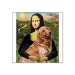 Mona's Golden Retriever Square Sticker 3