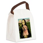 Mona Lisa/Golden #8 Canvas Lunch Bag