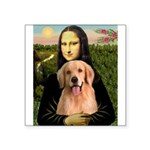 Mona Lisa/Golden #8 Square Sticker 3